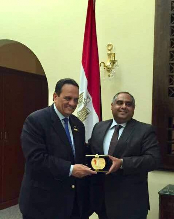 AASC President met with H.E. Ambassador Ahmed Adel Egypt's Ambassador in Djibouti