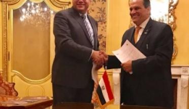 L'Ambassadeur Ihab Badawy , L'Ambassadeur d'Egypte en France soutient la signature de l'UCSA et NxtVn.