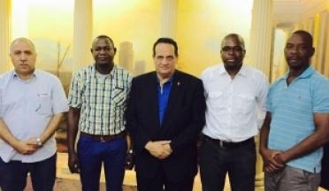 La réunion du Président du l'UCSA avec comité technique du Union Africaine en 20 Octobre, 2015.