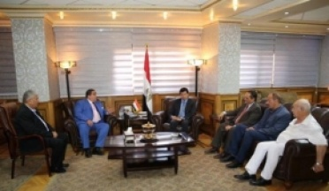 President UCSA met with the Minister of Youth and Sports of Egypt, Dr. Ashraf Subhi, and Mr. Fouad Meskout, President of the African Union for wrestling.