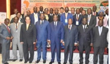 La Coopération de la mouvement Olympique Africain au Cote d'Ivoire