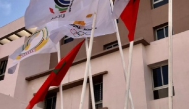 UCSA's Flag is waving high up along with African Games' flag