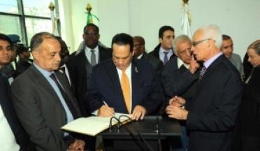 Général Ahmed Nasser Président de l'UCSA assiste à l'inauguration du Musée Olympique Algérien
