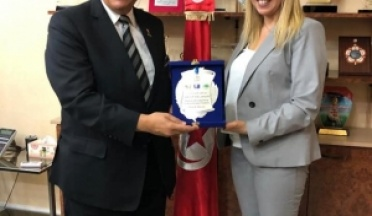 Meeting with H.E the Tunisian Minister of youth and sports and health Sonia Bin El Sheikh